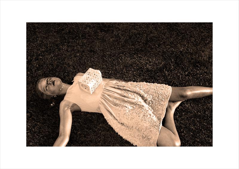 Tabitha Udy - Girl lying on grass